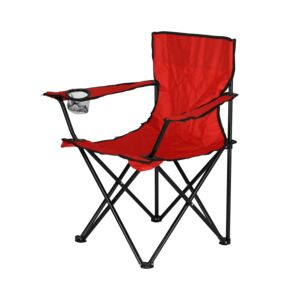 CHAIR FOLDABLE W/ARMREST STEEL DARK RED