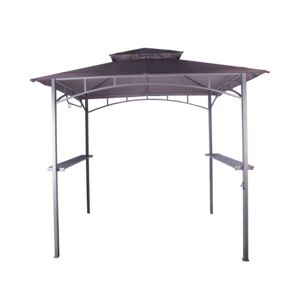 GAZEBO W/STEEL BAR FOR BBQ 1.52X2.44M