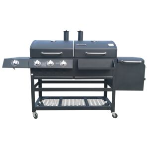 CHARCOAL DELUXE GAS GRILL & COMBO GRILL