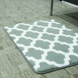 BATHMAT 50x81CM JACQUARD FLEECE GREY