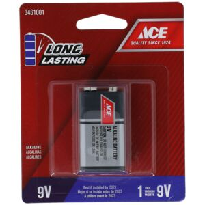 BATTERY ALKALINE 9VOLT ACE