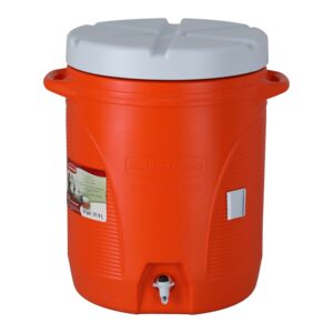 COOLER JUG 10GAL ORANGE RUBBERMAID