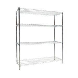 WIRE RACK 120X45X140CM 4 TIER CHROME HD