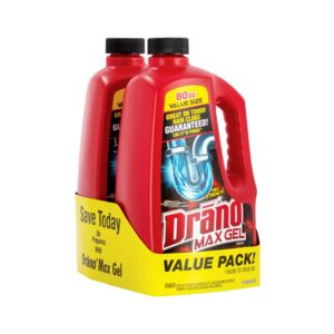 CLEANER 160oz. DRANO MAX GEL VALUE PK/2