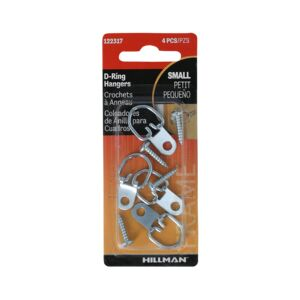 D RING HANGER SMALL 4PC STEEL HELLMAN