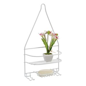 SHOWER CADDY 2TIER DURA COATED WHITE