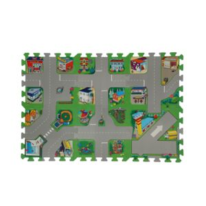 EVA MAT ROAD MAP PUZZLE