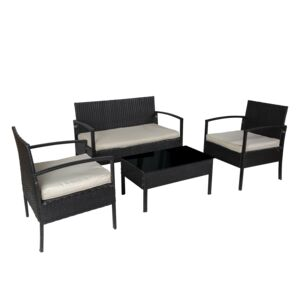 SEATING SET 4PCS TABLE 3SOFA W/CUSHION