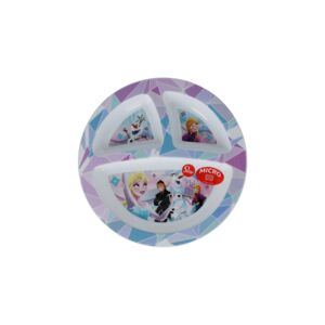 STOR KIDS PLATE DIVEDED FROZEN