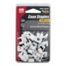 COAXIAL CABLE STAPLE1/4'' PLSTC 25PK WHT