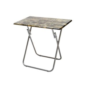 TABLE FOLDABLE 80X50X71CM MDF MARBLE CLR