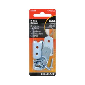 D RING HANGER LARGE 4PCS STEEL HELLMAN