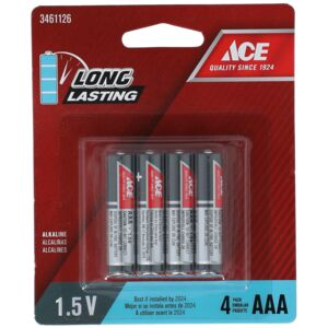 BATTERY ALKALINE AAA 4PCS ACE