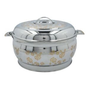 HOT POT V-SHAPE BELLY 7.5L SS GOLD/SLVER