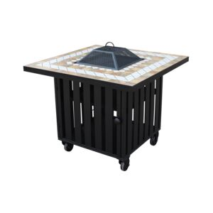 "FIRE PIT 35"" SQUARE MOSAIC TABLE/GRILL"