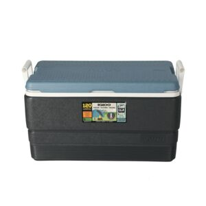 ICE CHEST 70QT MAXCOLD JET BLACK&BLUE