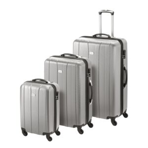 LUGGAGE 3PCS SET CUBA ABS SILVER SML