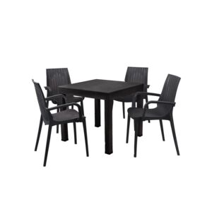 DINING SET 5PCS 1TABLE 4CHAIR