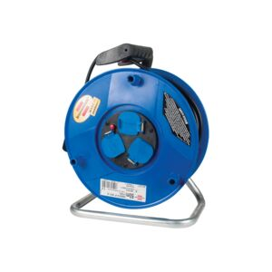 CABLE REEL 3WAY 50M BLK/BLU BS PLUG