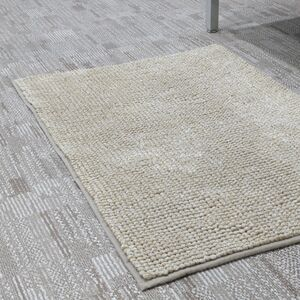 BATHMAT 50x81CM CHENILLE FLEECE BEIGE