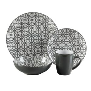 DINNER SET 16PCS MOSAIC GRANITE