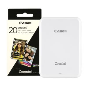 PHOTO PRINTER MINI+ZINK PAPER 20'S WHT