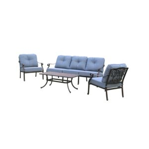 SEATING SET 4PCS 1TABLE 3CHAIR W/CUSHION