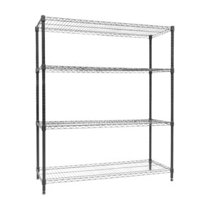 WIRE RACK 120X45X140CM 4 TIER BLACK HD
