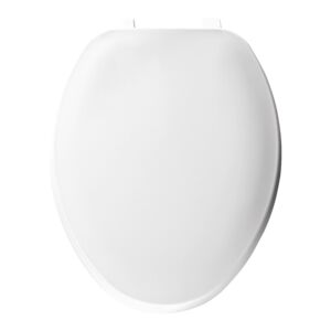 TOILET SEAT ELONGATED PLASTIC WHITE 170