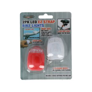 BIKE LIGHT 2PCS LED EZ STRAP BLAZING LED