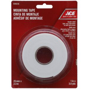 "MOUNTING TAPE 1""X3.7YD WHITE ACE"