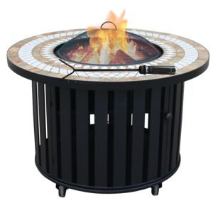 "FIRE PIT 40"" ROUND TABLE/GRILL/BUCKET"