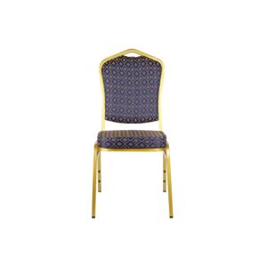 CHAIR BANQUET IRON GOLD FRAME, DARK BLUE