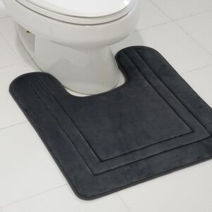 BATHMAT 53X61CM CONTOUR FLEECE GREY