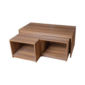 COFFEE TABLE NESTING TYPE WALNUT