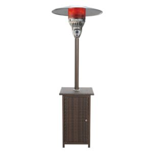 PATIO HEATER SQUARE WICKER BODY/TABLE