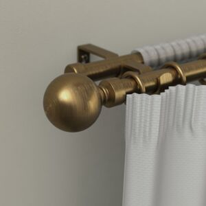 CURTAIN RODS DOUBLE BALL 210-410 GOLD
