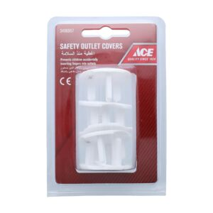 COVER ELECTRICAL SOCKET 5PCS PCK WHT ACE