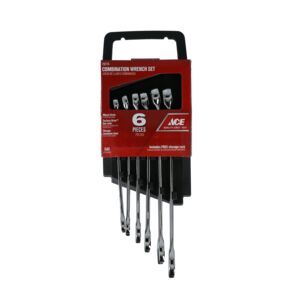 WRENCH SET 6PCS COMBINATION SAE ACE