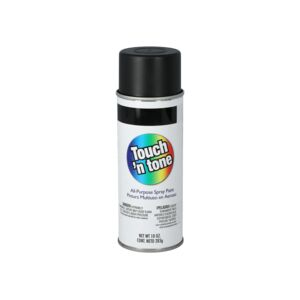 SPRAY PAINT FLAT BLACK TOUCHn TONE DAP