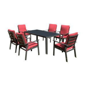 DINING SET 7PCS 1RECT. TABLE 6CHAIR