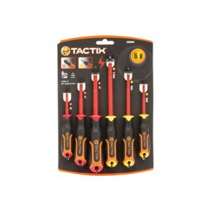 SCREWDRIVER 6PCS SET INSULATED TACTIX