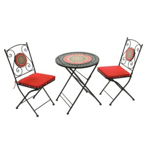 COFFEE BISTRO SET 3PCS RND TABLE 2CHAIR