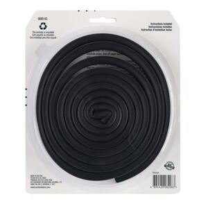 WEATHERSTRIP 17' D PROFILE RUBBER BLACK