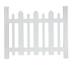 PICKET ACCENT FENCE WHITE
