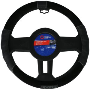 STEERING WHEEL COVER MED SPORT LINE BLK