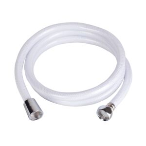 SHOWER HOSE 120CM FLEX VNYL WHITE