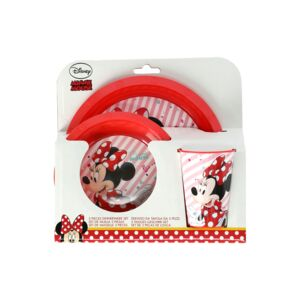 STOR PLATE,BOWL,TUMBLER EASY SET MINNIE