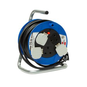 CABLE REEL 3WAY 15M COMPACT AK BLK/BLU