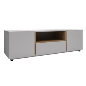 "TV UNIT 36-50"" 140.4X41.4X40.4CM WHT&OAK"